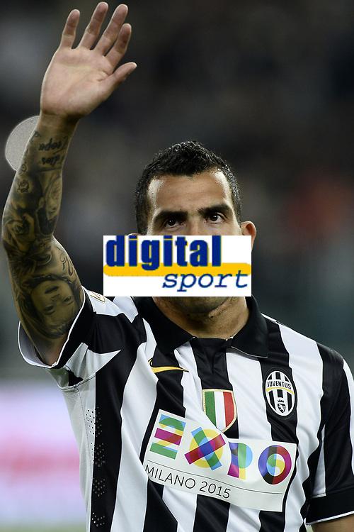 Carlos Tevez Juventus <br /> Torino 18-04-2015 Juventus Stadium Football Calcio Serie A 2014/2015 Juventus - Lazio  . Foto Image Sport / Insidefoto