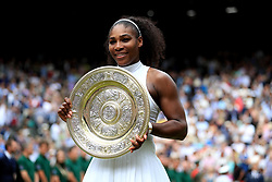 File photo dated 09-07-2016 of Serena Williams