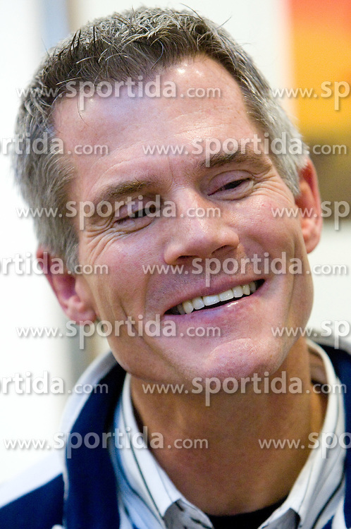 Head coach John Harrington at press conference of Slovenian Ice Hockey federation and National Ice Hockey Team, on February 7, 2010 in Arena Tivoli, Ljubljana, Slovenia. (Photo by Vid Ponikvar / Sportida)