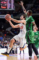 Real Madrid's Sergio Llull during semi finals of playoff Liga Endesa match between Real Madrid and Unicaja Malaga at Wizink Center in Madrid, June 02, 2017. Spain.<br /> (ALTERPHOTOS/BorjaB.Hojas)