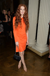 NICOLA ROBERTS at a party to kick off London Fashion Week hosted by US Ambassador Matthew Barzun and Mrs Brooke Brown Barzun with Alexandra Shulman in association with J.Crew hrld at Winfield House, Regent's Park, London on 18th September 2015.