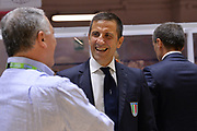 Roberto Begnis<br /> Happy Casa Brindisi - Carpegna Prosciutto Basket Pesaro<br /> Legabasket SerieA  2019 - 2020<br /> Brindisi 20/10/2019<br /> Foto GiulioCiamillo// Michele Longo