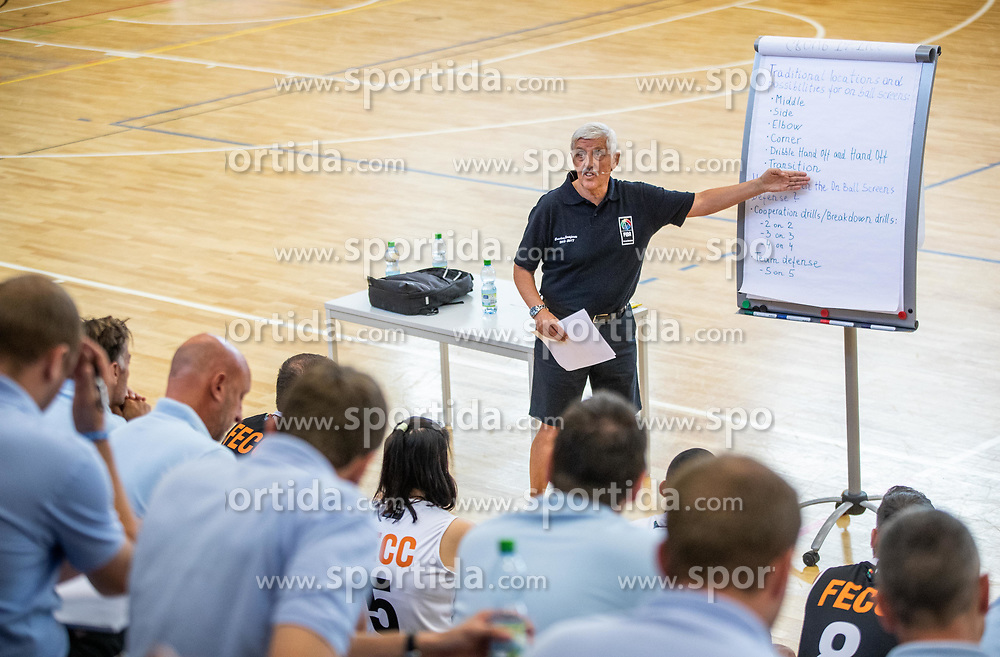 Janez Drvaric, Slovenian basketball coach teaching younger basketball coaches at FECC - FIBA Europe Coaching Certificate, on July 17, 2018 in Chemnitz, Germany. Photo by Vid Ponikvar / Sportida
