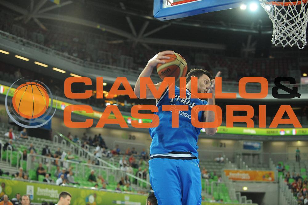 DESCRIZIONE : Lubiana Ljubliana Slovenia Eurobasket Men 2013 Finale Settimo Ottavo Posto Serbia Italia Final for 7th to 8th place Serbia Italy<br /> GIOCATORE : Alessandro Gentile<br /> CATEGORIA : rimbalzo rebound<br /> SQUADRA : Italia Italy<br /> EVENTO : Eurobasket Men 2013<br /> GARA : Serbia Italia Serbia Italy<br /> DATA : 21/09/2013 <br /> SPORT : Pallacanestro <br /> AUTORE : Agenzia Ciamillo-Castoria/M.Ceretti<br /> Galleria : Eurobasket Men 2013<br /> Fotonotizia : Lubiana Ljubliana Slovenia Eurobasket Men 2013 Finale Settimo Ottavo Posto Serbia Italia Final for 7th to 8th place Serbia Italy<br /> Predefinita :