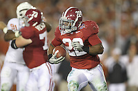PASADENA,CA - JANUARY 07:  Mark Ingram #22 of the Alabama Crimson Tide runs with the ball against the Texas Longhorns. The Crimson Tide defeated the Longhorns 37-21 in the BCS National Championship game on January 7, 2010 at the Rose Bowl in Pasadena, CA. Photo by Tom Hauck.