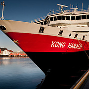 Three weeks aboard the Kong Harald. Hurtigruten, the Coastal Express. Svolvaer in the Lofotens, Vagan, in Nordland.