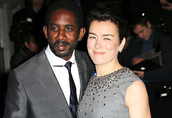 © Licensed to London News Pictures. Rhashan Stone and  Olivia Williams attending the London Evening Standard Theatre Awards at the The Savoy Hotel in London, UK on 17 November 2013. Photo credit: Richard Goldschmidt/PiQtured/LNP