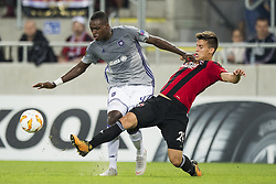 September 20, 2018 - Trnava, SLOVAKIA - Anderlecht's Landry Dimata and Spartak's defender Matej Oravec fight for the ball during a match between Belgian soccer team RSC Anderlecht and Slovakian club Spartak Trnava, Thursday 20 September 2018 in Trnava, Slovakia, on day one of the UEFA Europa League group stage. BELGA PHOTO JASPER JACOBS (Credit Image: © Jasper Jacobs/Belga via ZUMA Press)