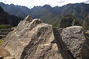 Rock at Machu Picchu  Peru