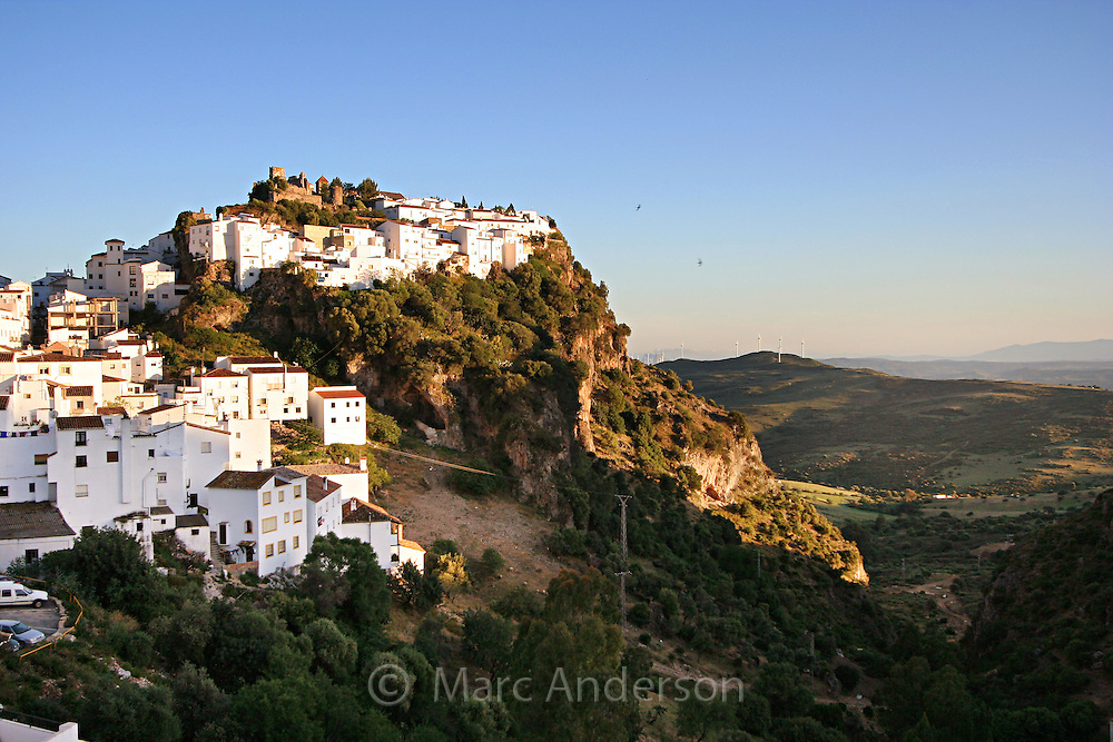 Casares, a Spanish White Village (Pueblo Blanco) in Andalucia, Spain