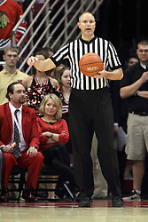 14 February 2015:   Jeff Malham during an NCAA MVC (Missouri Valley Conference) men's basketball game between the Wichita State Shockers and the Illinois State Redbirds at Redbird Arena in Normal Illinois