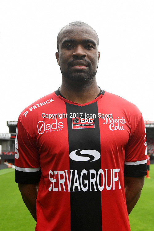 Sloan Privat during photocall of En Avant Guingamp for new season 2017/2018 on September 7, 2017 in Guingamp, France. (Photo by Philippe Le Brech/Icon Sport)