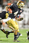 January 7, 2013: Notre Dame running back George Atkinson III (4) during 1st half of the Discover BCS National Championship game between the Alabama Crimson Tide and the Notre Dame Fighting Irish at Sun Life Stadium in Miami Gardens, Fl