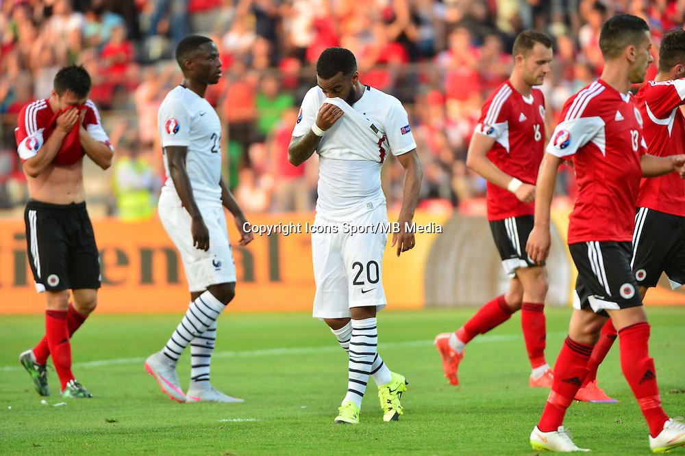 Deception Alexandre LACAZETTE - 13.06.2015 - Albanie / France - Match Amical - Tirana<br />Photo : Dave Winter / Icon Sport