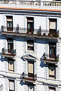 Apartments in traditional building in Bilbao, Basque Province, Spain