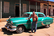 Old American car in Batabano, Mayabeque Province, Cuba.