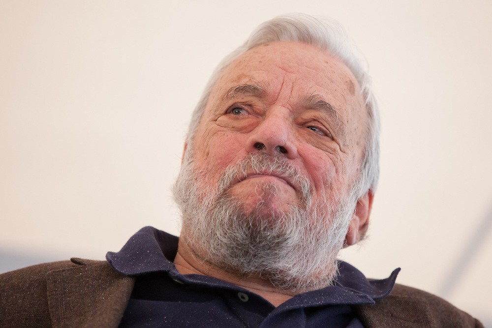 "Broadway composer and lyricist Stephen Sondheim is pictured during a ceremony to award him the Edward MacDowell Medal for lifetime achievement, at the MacDowell Colony, in Peterborough, NH on Sunday, August 11, 2013. Sondheim has won more Tony Awards than any other composer. His hit musicals include ""Follies,"" ''A Little Night Music"" and ""Sweeney Todd."" (Matthew Cavanaugh Photo)"