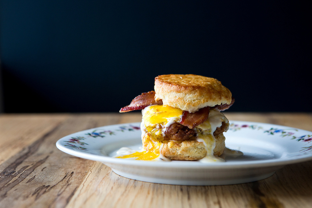 Breakfast sandwich at Sala & Betty Austin, Texas / Tribeza Magazine