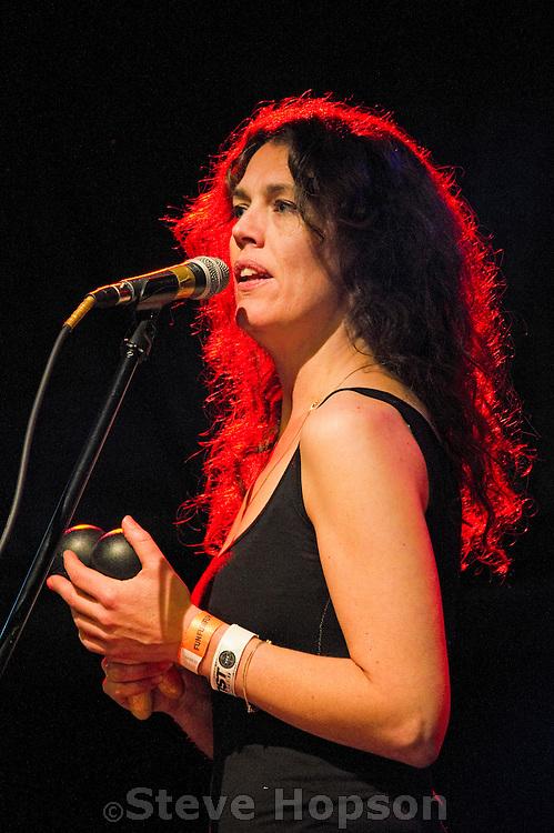 Brigid Dawson of Thee Oh Sees performing at Fun Fun Fun Fest, Austin, Texas, November 8, 2013.