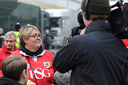 A Bristol City fan is interviewed ahead of the game - Photo mandatory by-line: Dougie Allward/JMP - Mobile: 07966 386802 - 25/01/2015 - SPORT - Football - Bristol - Ashton Gate - Bristol City v West Ham United - FA Cup Fourth Round