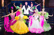 Strictly Ballroom The Musical <br /> Press photocall / publicity stunt <br /> at Cafe de Paris, London, Great Britain <br /> 14th February 2018 <br /> <br /> Will Young <br /> <br /> And company <br /> <br /> Photograph by Elliott Franks