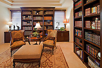 Luxurious study room in mansion