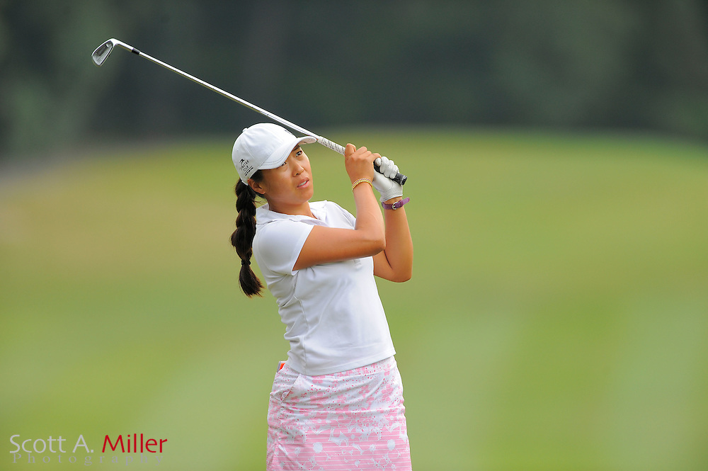 Jennifer Hong during the Symetra Tour's Eagle Classic at the Richmond Country Club on August 18, 2012 in Richmond, Va...©2012 Scott A. Miller