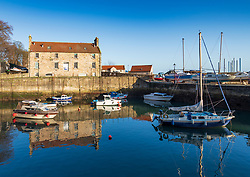 View of harbour at Dysart in Kirkcaldy , Fife, Scotland, UK
