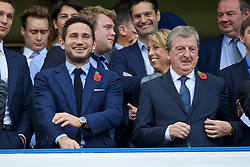 LONDON, ENGLAND - Saturday, October 31, 2015: Former Chelsea player Frank Lampard with England manager Roy Hodgson before the Premier League match against Liverpool at Stamford Bridge. (Pic by Lexie Lin/Propaganda)