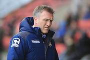 Steve Davis during the Sky Bet League 1 match between Crewe Alexandra and Rochdale at Alexandra Stadium, Crewe, England on 6 February 2016. Photo by Daniel Youngs.