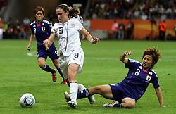 17.07.2011, Commerzbankarena, Frankfurt, GER, FIFA Women Worldcup 2011, Finale,  Japan (JPN) vs. USA (USA),. im Bild:  Aya Miyama (JPN) gegen Heather O Reilly (USA)  . // during the FIFA Women Worldcup 2011, final, Japan vs USA on 2011/07/11, FIFA Frauen-WM-Stadion Frankfurt, Frankfurt, Germany.   EXPA Pictures © 2011, PhotoCredit: EXPA/ nph/  Karina Hessland       ****** out of GER / CRO  / BEL ******