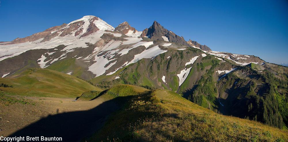 Mt. Baker; Pacific NW; Panorama, WA; Wilderness, Alpine Ridge, Shadow