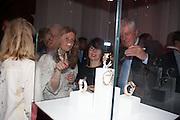 ALLALIA FORTE; SHARON STIRLING; ARCHIE STIRLING, Cartier Tank Anglaise launch. Kensington Palace Orangery, London.  19 April 2012.