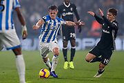 Huddersfield Town midfielder Jonathan Hogg (6) in action  during the Premier League match between Huddersfield Town and Fulham at the John Smiths Stadium, Huddersfield, England on 5 November 2018.
