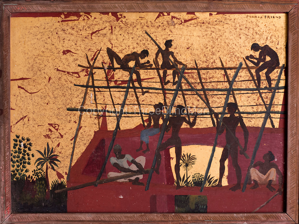 Painting by Donald Friend at Geoffrey Bawa's Colombo home off Bagatalle Road.
