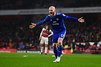 Football - 2018 / 2019 Premier League - Arsenal vs. Cardiff City<br /> <br /> Cardiff City's Aron Gunnarsson frustrated as a decision goes against them, at The Emirates.<br /> <br /> COLORSPORT/ASHLEY WESTERN