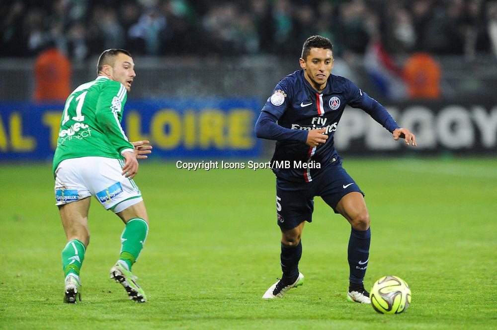 MARQUINHOS - 25.01.2015 - Saint Etienne / PSG - 22eme journee de Ligue1<br /> Photo : Jean Paul Thomas / Icon Sport