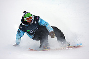 12/20/08 3:26:00 PM -- Breckenridge, CO, U.S.A. -- Snowboarder Danny Kass of Mammoth Lakes, Ca. tries to regain his balance after falling in the superpipe at the inaugural Winter Dew Tour in Breckenridge, Co. on December 20, 2008. Kass finished 8th in the event with a score of 79. The four-day competition is the first of three stops on the tour that features freeskiing and snowboarding..(Photo by Marc Piscotty / © 2008)