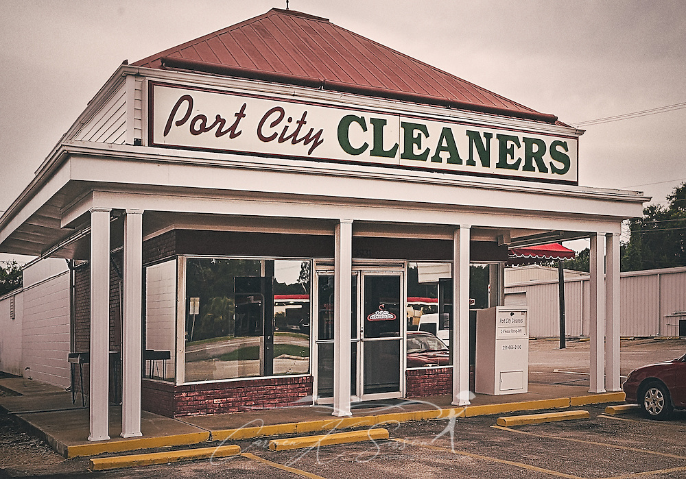 Port City Cleaners is pictured on Highway 90, July 10, 2016, in Mobile, Alabama. (Photo by Carmen K. Sisson/Cloudybright)