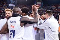 Real Madrid's Jeffery Taylor, Othello Hunter, Trey Thompkins, Gustavo Ayon, Jonas Maciulis during Quarter Finals match of 2017 King's Cup at Fernando Buesa Arena in Vitoria, Spain. February 16, 2017. (ALTERPHOTOS/BorjaB.Hojas)