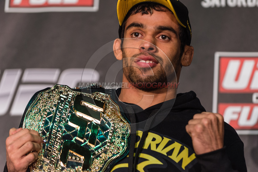 LONDON, ENGLAND, FEBRUARY 13, 2013: Renan Barao during the pre-fight press conference for UFC on Fuel TV 7 inside London Shootfighters Gym in Park Royal, London, England on Wednesday, February 13, 2013 © Martin McNeil