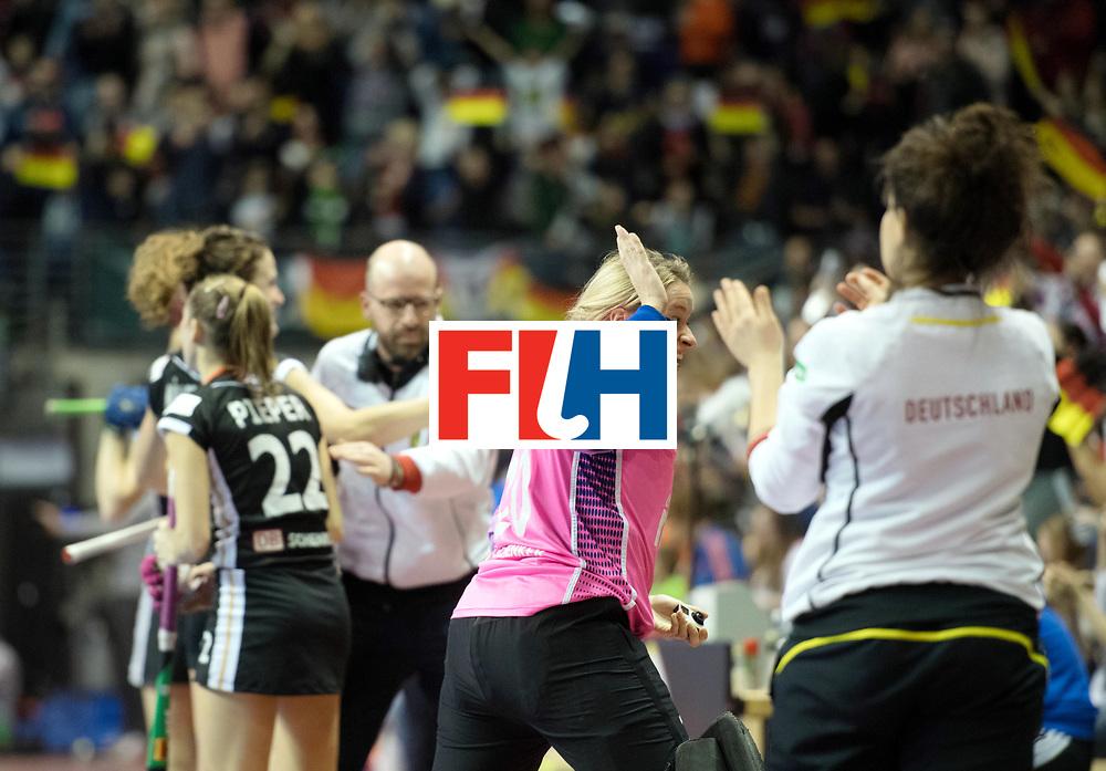 BERLIN - Indoor Hockey World Cup<br /> Final: Netherlands - Germany<br /> foto: Julia Ciupka (GK)  <br /> WORLDSPORTPICS COPYRIGHT FRANK UIJLENBROEK