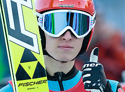20.12.2015, Nordische Arena, Ramsau, AUT, FIS Weltcup Nordische Kombination, Skisprung, im Bild Manuel Faisst (GER) // Manuel Faisst of Germany during Skijumping Competition of FIS Nordic Combined World Cup, at the Nordic Arena in Ramsau, Austria on 2015/12/20. EXPA Pictures © 2015, PhotoCredit: EXPA/ JFK