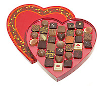 jacques torres heart shaped box of chocolates