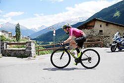 Annemiek van Vleuten (NED) goes solo on Stage 5 of 2019 Giro Rosa Iccrea, a 88.8 km road race from Ponte in Valtellina to Lago di Cancano, Italy on July 9, 2019. Photo by Sean Robinson/velofocus.com