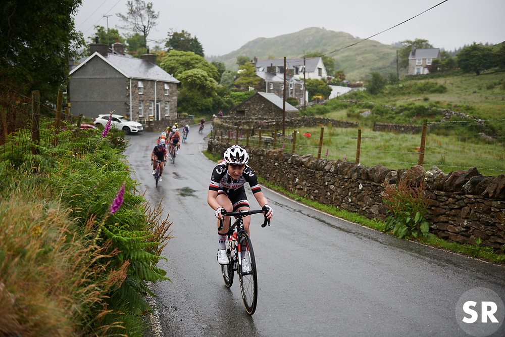 Leah Kirchmann (CAN) helps Team Sunweb control the race at OVO Energy Women's Tour 2018 - Stage 5, a 122 km road race from Dolgellau to Colwyn Bay, United Kingdom on June 17, 2018. Photo by Sean Robinson/velofocus.com