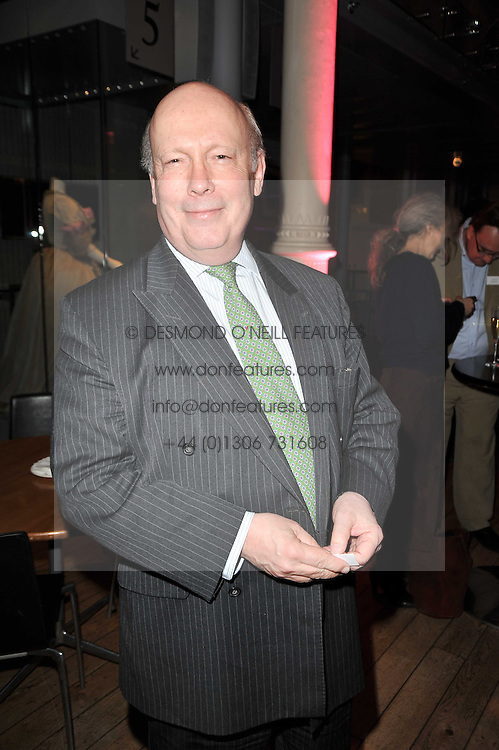 LORD FELLOWES OF WEST STAFFORD at the annual Orion Publishing Group's Author party held in the Paul Hamlyn Hall, The Royal Opera House, Covent Garden, London on 15th February 2011.