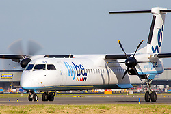 © Licensed to London News Pictures. 17/06/2013. FILE PICTURE: Flybe, the Exeter-based airline, has today (11 NOV 2013) announced plans to cut 500 jobs across the business, despite reporting a return to profit. Pre-tax profits were £13.8m for the six months to 30 September, compared with a loss of £1.6m a year earlier.. Photo credit : IAN SCHOFIELD/LNP