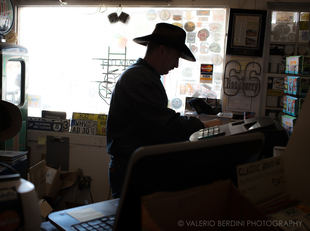 The owner of Hacberry general store. Hackberry is an unincorporated community in Mohave County, Arizona, United States. Hackberry is located on Arizona State Route 66 (former U.S. Route 66) 23 miles (37 km) northeast of Kingman. Hackberry has a post office which serves 68 residential mailboxes with ZIP code 86411.