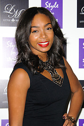 Zaraah Abrahams at Style for Stroke - launch party held at No. 5 Cavendish Square, London, England, October 2, 2012. Photo by Chris Joseph / i-Images.